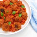 Quiche vegana con base de patata (sin gluten)